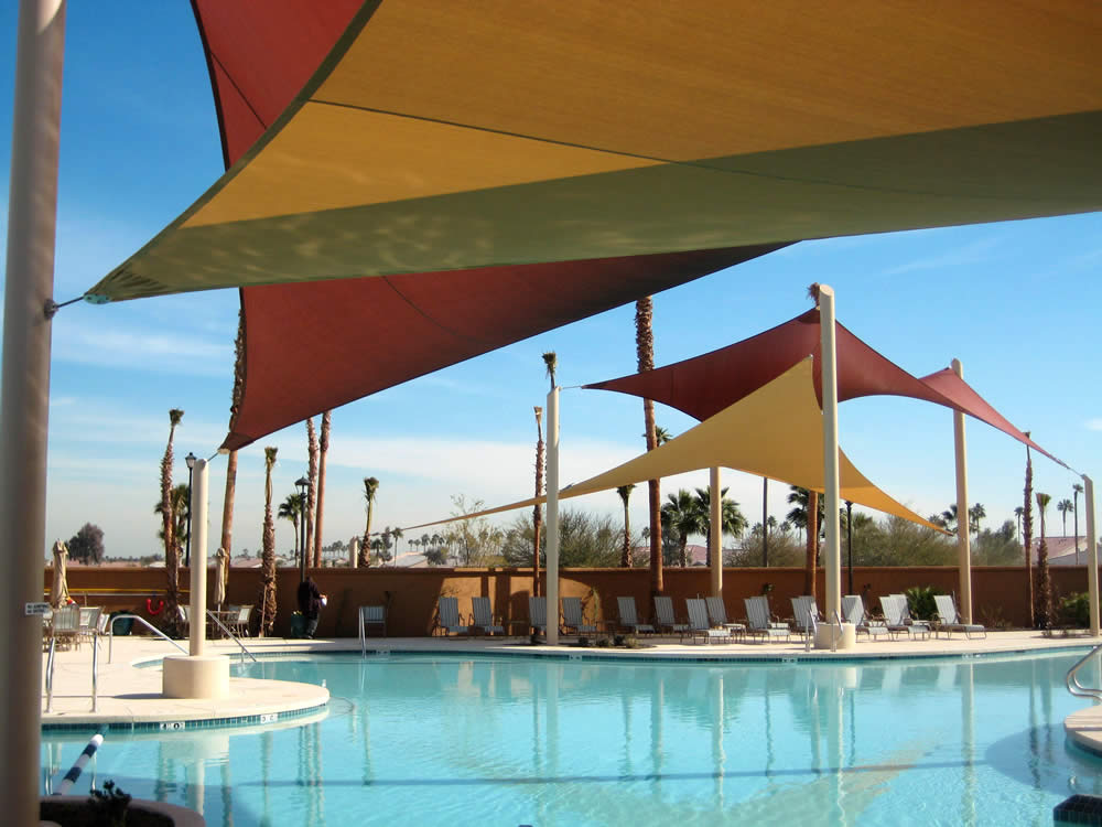 Swimming Pool Designs | Pool Shade Sails, Structures | Commercial ...